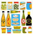 Colorful food composition vector image vector image