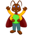 cute cockroach cartoon standing vector image
