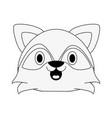 cute puppy raccoon cartoon vector image
