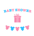 decoration for Baby shower vector image vector image