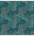 Decorative seamless pattern with leaves and small vector image vector image