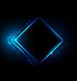 digital technology futuristic blue background vector image vector image