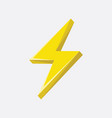 flash sign thunder yellow vector image vector image