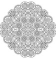 floral lace style round decorative element vector image