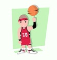 funny little kids play basketball vector image vector image
