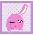 glamorous bunny vector image vector image