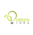 green idea logo vector image