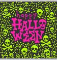 halloween party glow in the dark card vector image