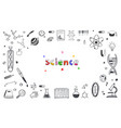 hand drawn science and education doodle vector image vector image