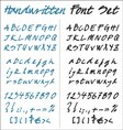 Handwritten font set vector | Price: 1 Credit (USD $1)