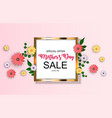 happy mothers day cute sale background with vector image vector image