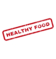 Healthy Food Text Rubber Stamp vector image vector image