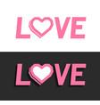 heart logo design template vector image vector image
