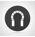 Horseshoe archway black round icon vector image vector image
