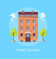 hotel service poster vector image vector image