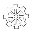 isolated gear icon vector image vector image
