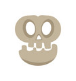 isolated halloween skull vector image