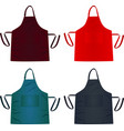 kitchen apron vector image
