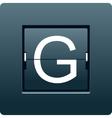 Letter G from mechanical scoreboard vector image