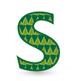 letter s christmas festive font icon vector image