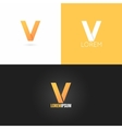 letter V logo design icon set background vector image