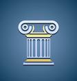 Logo marble column vector image