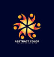 logo propeller gradient colorful style vector image vector image