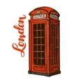 London red phone booth vector image vector image