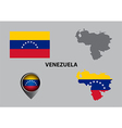 Map of Venezuela and symbol vector image vector image