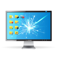 monitor with folders vector image vector image