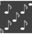 Music elements notes web icon flat design Seamless vector image