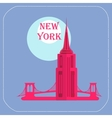 New York Empire State Building icon flat vector image
