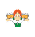 oktoberfest girl on white vector image