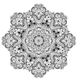 Ornamental round lace pattern is like mandala 1 vector image vector image
