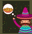 people mexican food vector image vector image