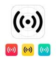 Radio waves icon vector image vector image