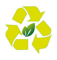 recycle ecology symbol icon vector image