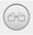 round white button 3d glasses icon vector image vector image