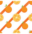 seamless pattern with orange fruit vector image vector image