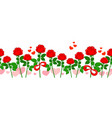 seamless romantic roses pattern vector image
