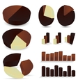 Set of chocolate diagrams vector image