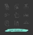 set of environment icons line style symbols with vector image