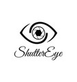 shutter eye photography logo design template vector image vector image