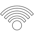 simple wifi icon vector image