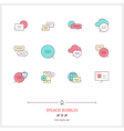 Speech Bubbles Line Icons Set vector image