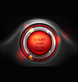 start and stop engine car ignition button vector image