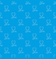 stethoscope pattern seamless blue vector image vector image