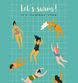 swimming women design vector image