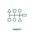 variety outline icon thin line style from big vector image