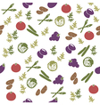 Vegetarian food seamless pattern vector image vector image